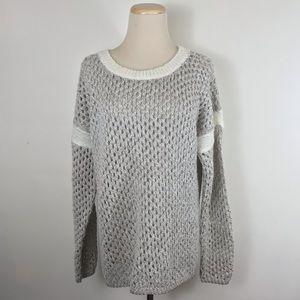 Sundance Catalog Open Knit Sparkling Snow Sweater